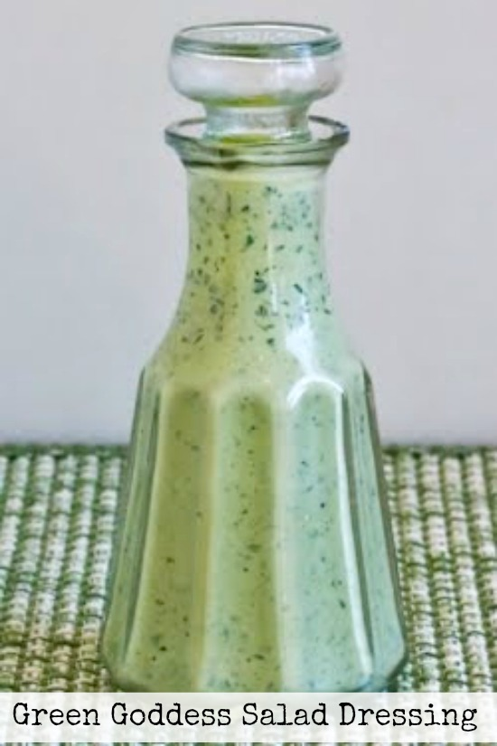 Green Goddess Salad Dressing found on KalynsKitchen.com