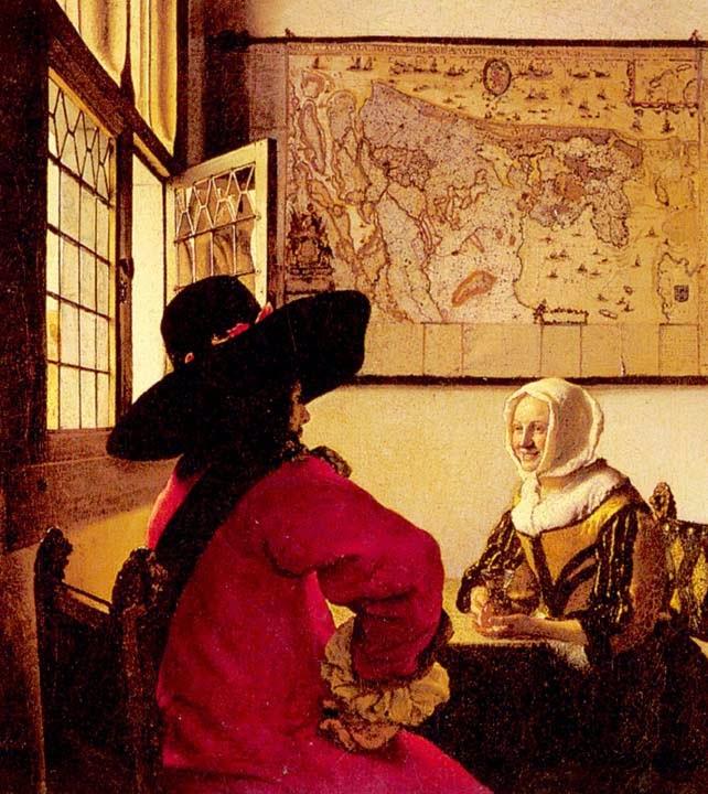 Oficial com uma Menina - Vermeer, Jan e suas principais pinturas
