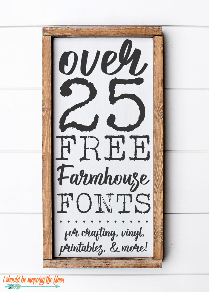picture about Printable Fonts identified as 25+ Free of charge Farmhouse Font Downloads i really should be mopping the