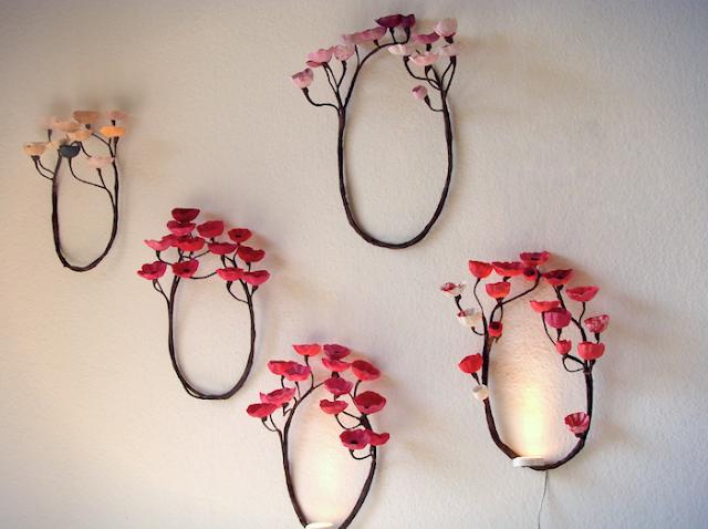 Alessandra Fabre Repetto, Forest Wall Light, Lampada Led ,fatta a mano che proietta le ombre