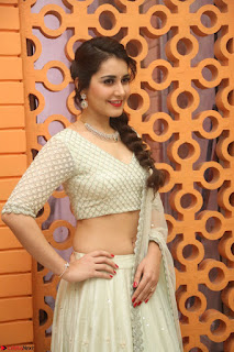Raashi Khanan looks stunning in Crop Top Deep neck Choli Ghagra Transparent Chunni WOW ~  Exclusive Celebrities Galleries 038.JPG