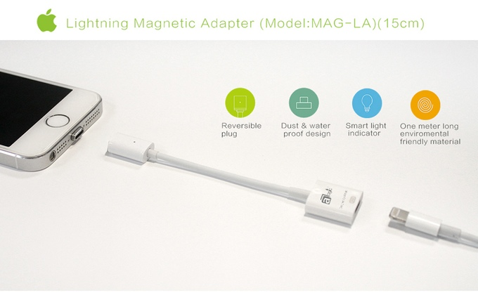 MagCable - Android (Micro-USB) and iPhone (Lightning) Magnetic USB Charging  Cable