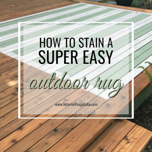 How To Stain A Super Easy DIY Outdoor Rug