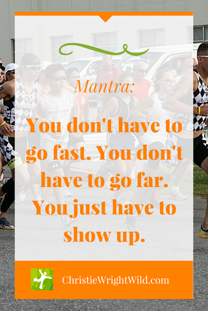 Running mantra: You don't have to go fast. || Just do it. | writers who run