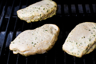 Grilled Lime and Chipotle Pork Chops found on KalynsKitchen.com