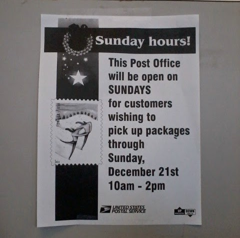 is the post office open on sunday