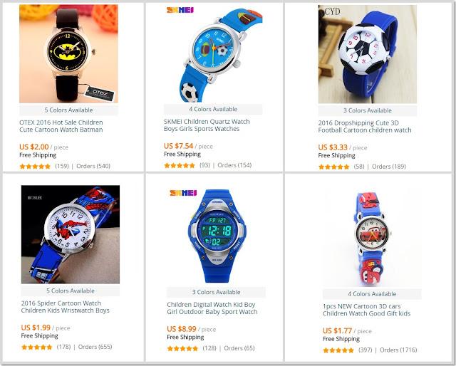Relógios Meninos Ofertas AliExpress