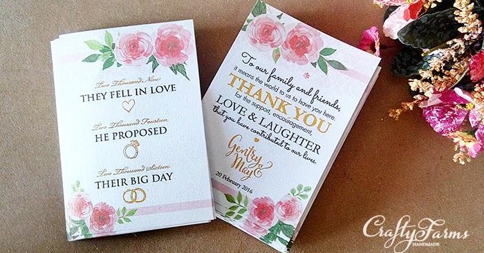 Wedding Gift Tag Malaysia : Wedding Card Malaysia Crafty Farms Handmade : Watercolour Flower ...