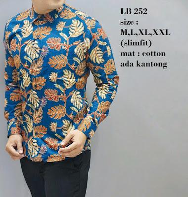 batik modern slim fit