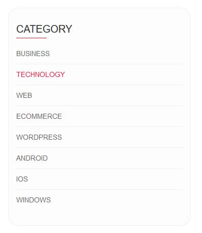 Bootstrap Category