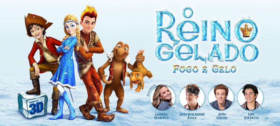 O Reino Gelado - Fogo e Gelo: 3 motivos para ver o filme, pré-estreia e making of com Larissa Manoela, João Guilherme, João Côrtes e Lipe Volpato