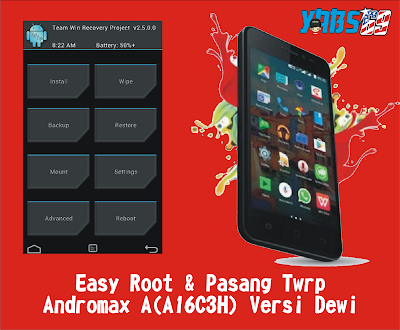 Easy Root & Pasang Twrp Androma A(A16C3H) Versi Dewi