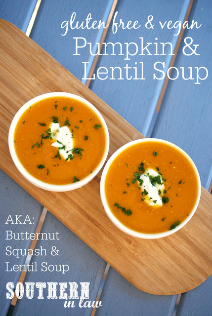 Healthy Butternut Pumpkin and Lentil Soup Recipe - healthy, low fat, gluten free, vegan, egg free, dairy free, clean eating friendly, butternut squash soup, low calorie soup recipes,