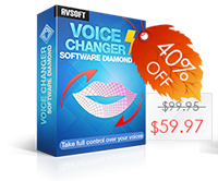 Coupon 40% for Voice Changer Software Diamond 8.0