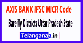 AXIS BANK IFSC MICR Code Bareilly District Uttar Pradesh State