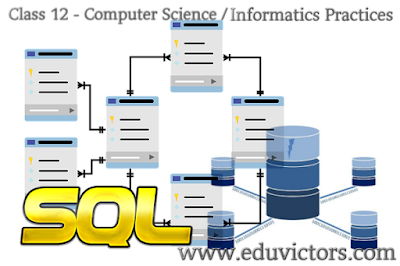 CBSE Class 12 - Computer Science - SQL Commands and Functions - Summary(#cbsenotes)(#eduvictors)