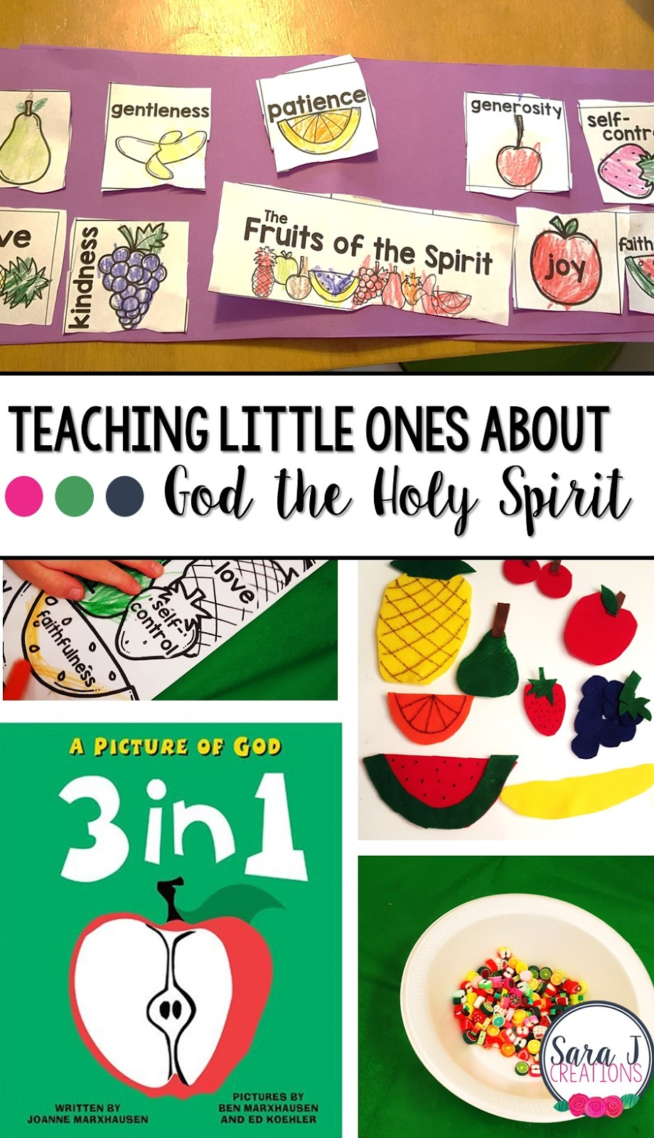 Teaching little ones about God the Holy Spirit through crafts, sensory activities, puzzles, fine motor practice, stories and more.  Perfect for Sunday school or Vacation Bible School.