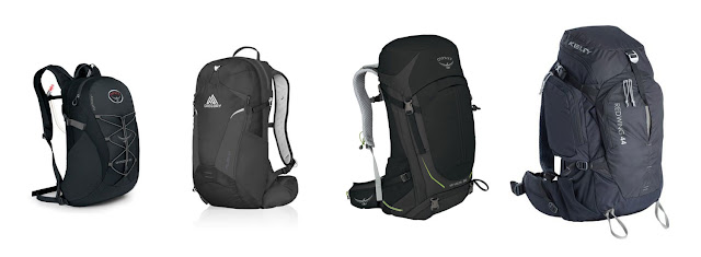 daypack sizes