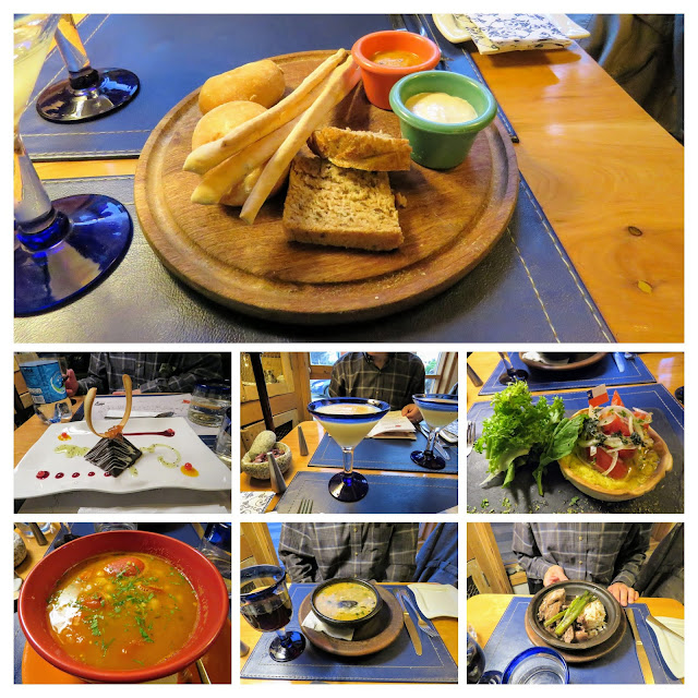 Places to eat in Punta Arenas: collage of pictures of meal at La Marmita