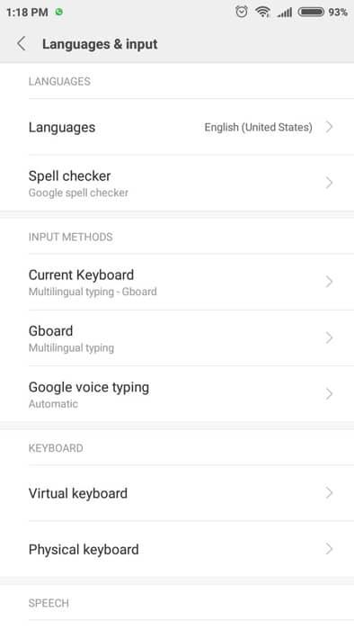 pengaturan fitur voice typing