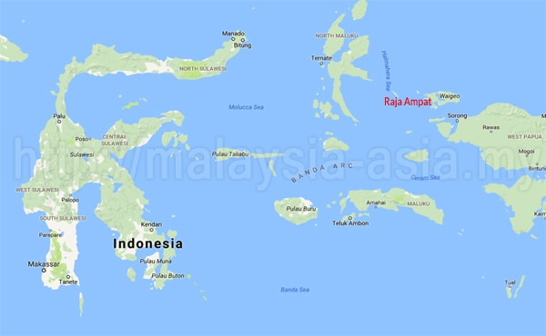 Map of Raja Ampat