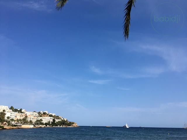 vue sur la péninsule de la ville d'Ibiza depuis le quartier de Figueretas