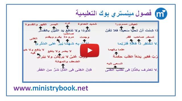 شرح نص نصائح - لغة عربية الصف الاول الاعدادي ترم ثاني 2019-2020-2021-2022-2023-2024-2025