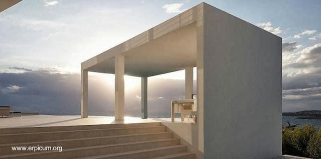 Detalle de una residencia minimalista en España
