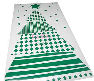 vinilos navidad, fiestas, trineo, regalos, estrellas, vidrieras fin de año