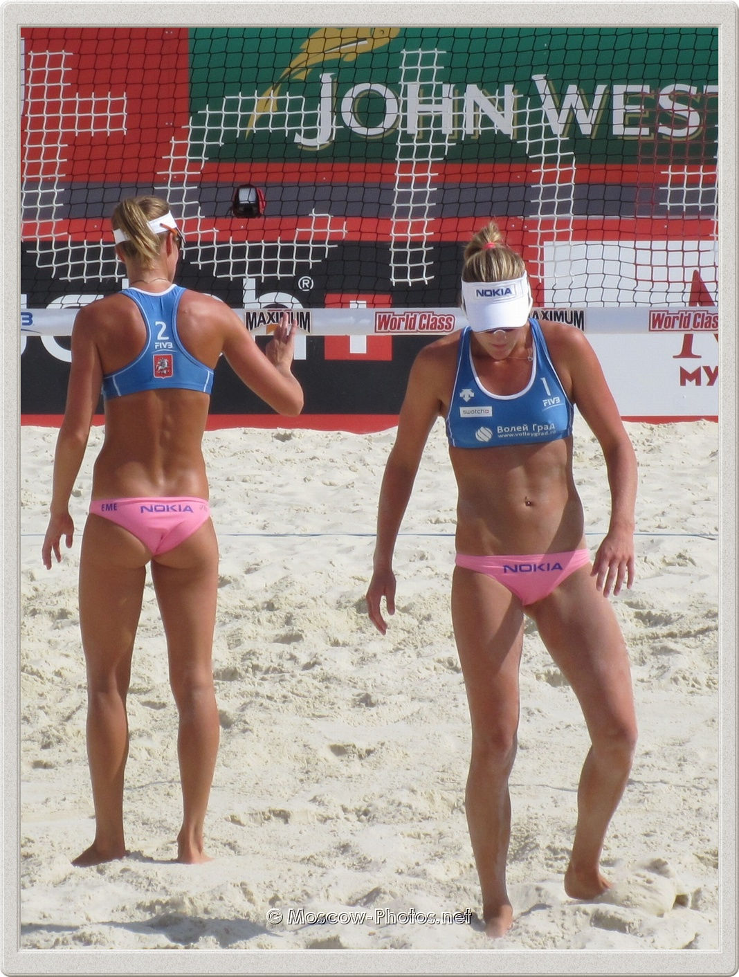 Beach Volleyball Players Emilia Nystrom & Erika Nystrom