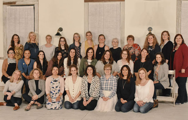 Participants At Bonnie Christine's Immersion Retreat With Thistle Thicket Studio. www.thistlethicketstudio.com