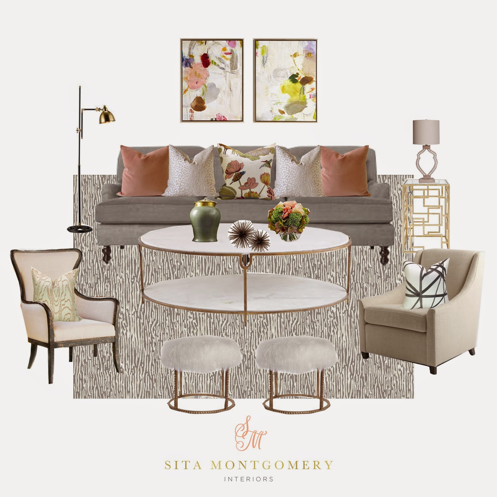 Sita Montgomery Interiors: Sita Montgomery Interiors: Shop This Room With Kathy Kuo Home