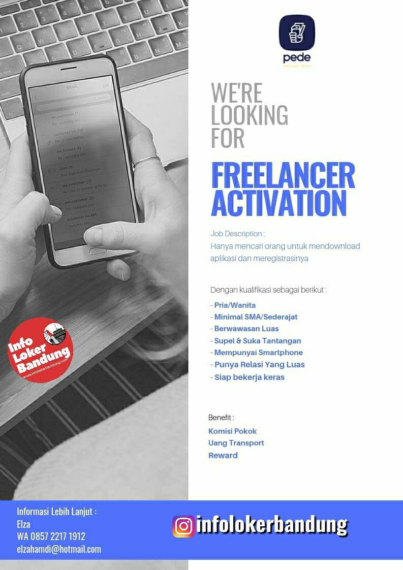 Lowongan Kerja Freelancer Activation Pede Bandung Mei 2019