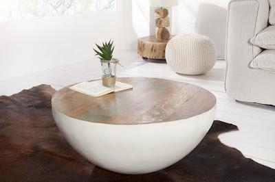 exotický stolík z recyklovaneho dreva Jatakar.