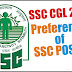 The Possible Preference List of Posts for SSC CGL 2016