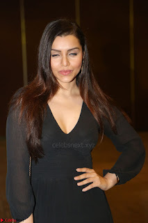 Kyra Dutta in black At Rogue Movie Audio Launch ~  061.JPG