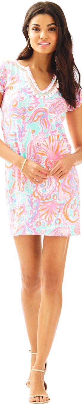 Lilly Pulitzer Harper Embellished T-Shirt Dress