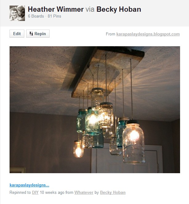 Pottery Barn Mason Jar Chandelier: Keeping Up With The Wimmers: Take THAT, Pottery Barn