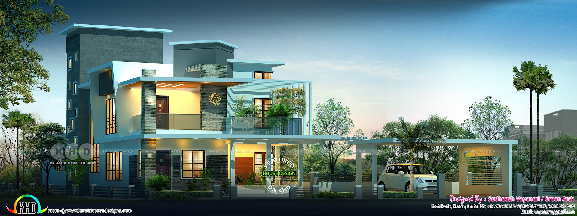 Contemporary style 4 bedroom 3500 sq-ft contemporary home ...