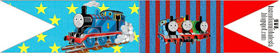 Thomas the Train Food Toppers or Flags