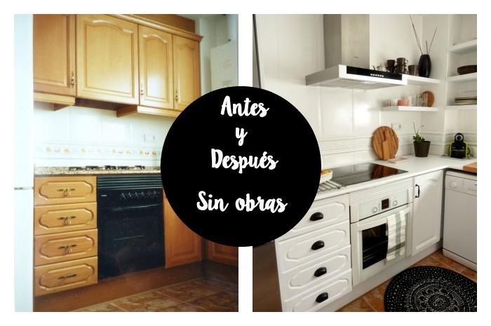 Antes y después reforma cocina sin obras