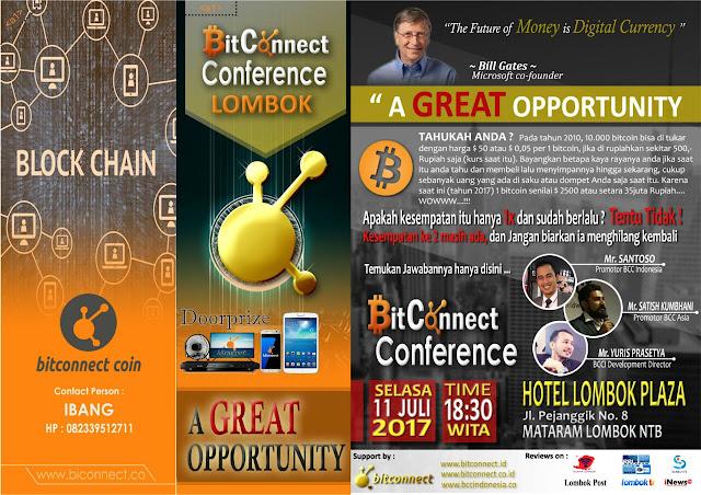 BitConnect Lombok NTB Gelar Seminar Peluang Bisnis