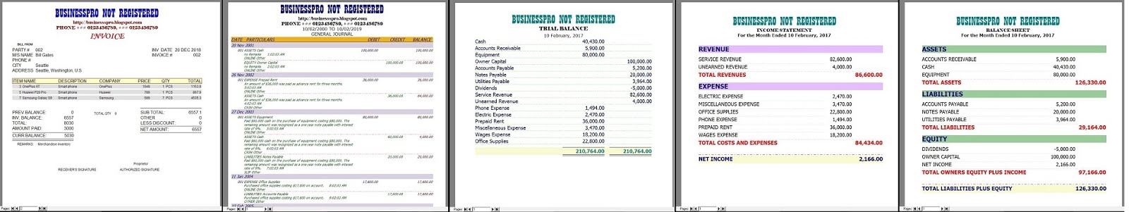 BUSINESSPRO Easiest Accounting Software