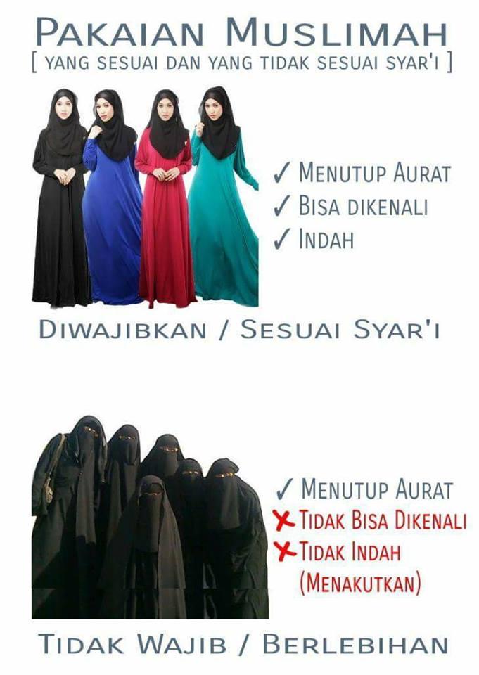 Jilbab vs Cadar dan Hukumnya dalam Islam