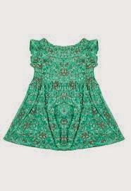 Vestido Verde Para meninas