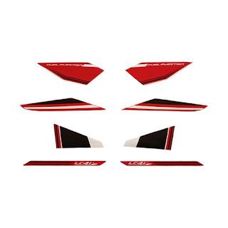 Idola Striping Aksesoris Body Motor for Vixion 2015 - Hitam Merah