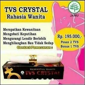 Jual TVS Crystal Perapat Vagina Di Gresik (WA) 082326813507