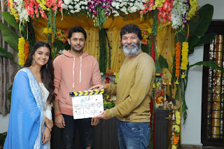 Keerthy Suresh with Nithin New Movie Launch 1