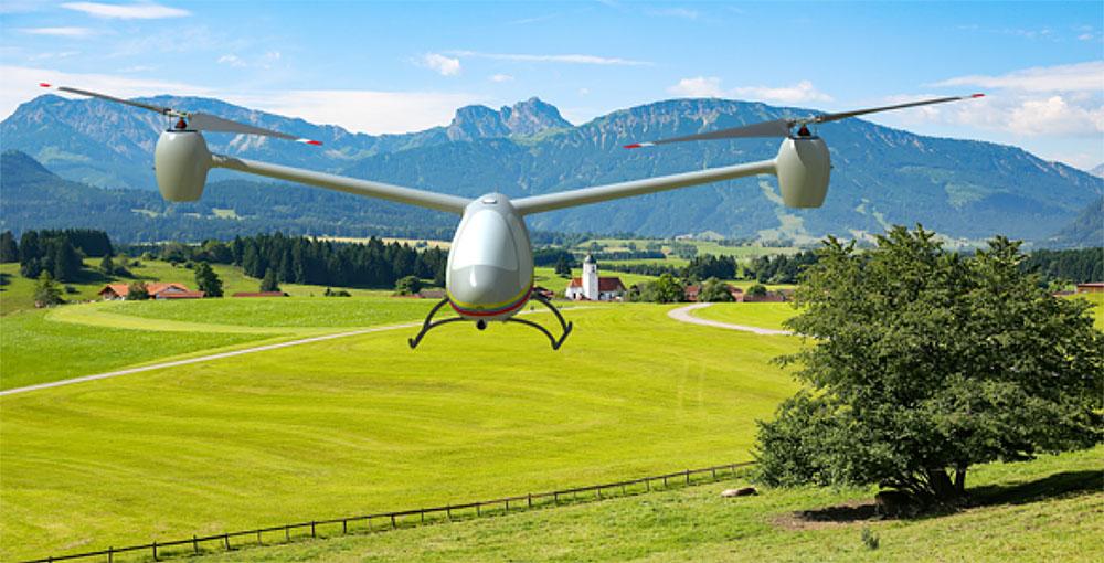 Гибридный беспилотный вертолет Elysium