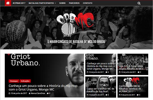 Circuito Paulista de Batalha de Mc's lança site oficial